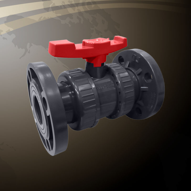 Double Union Ball Valve - Flanged End