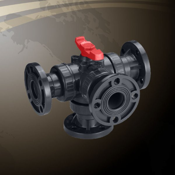 4-Way Union Ball Valve - Flanged End